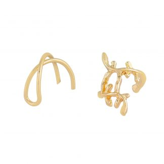 2-pack Ear cuffs guld Montini