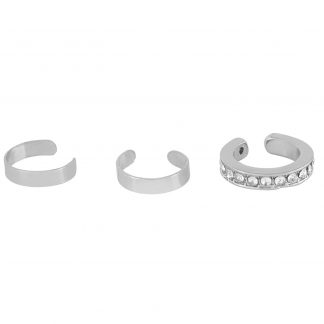 3-pack Ear Cuffs Silver Montini