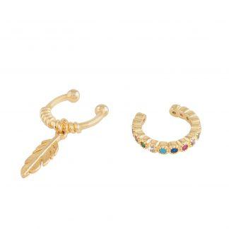 Ear cuffs multicolor Montini 2-pack
