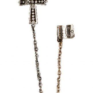 Earcuff med örhänge - Gotisk Kors