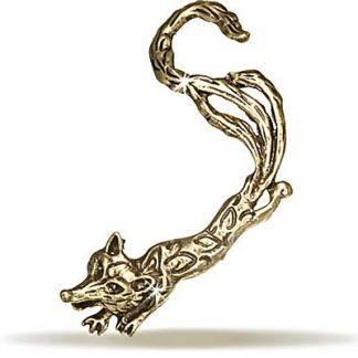 Fox - Ear Cuff i Mörk Guld