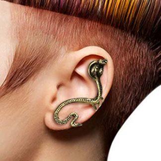 Mörk Guld Ear Cuff med Kobra Orm